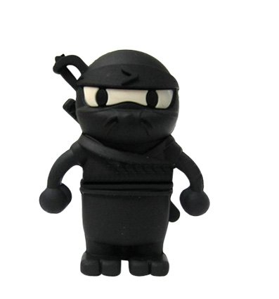 YooUSB 16GB Novelty Cartoon Cool Ninja USB Flash Key Pen Drive Memory Stick Gift UK [PC] product image